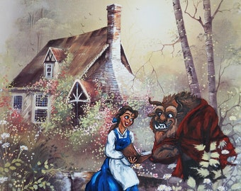 Beauty and the Beast. Printed on 11 x 17 in. paper
