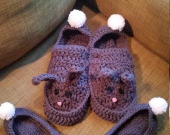 Couple's Bunny Slippers- bunny slipper set, gift, Valentine's Gift, bunny slippers, cute set, gift set