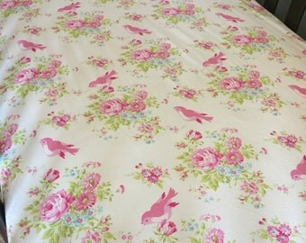 Shabby Chic Bedding, Girl Fitted Crib Sheet, Floral Girl Nursery, Pink Crib Sheet, Baby Girl Nursery Bedding, Cotton Sheet