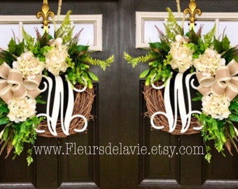 Double Door Wreaths Spring For Front Farm House Decor