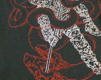George the Dragon Slayer Grey Multicoloured Silkscreened T-Shirts