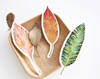 30 Pcs Leaves Bookmark - Die Cut Cardstock Scrapbook Embellishment