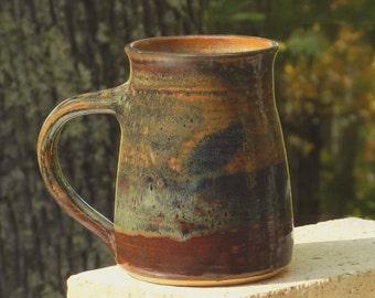 Brown Mug, Earthy 23 oz. Very Big Coffee Tea Beer Handmade Pottery, Microwave friendly, Stoneware Room Handle Home and Living Kitchen Dining