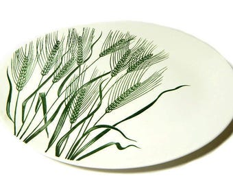 Four Homer Laughlin Wheat Americana Oval Platter Green Wheat
