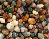 """Gemstones 1 Lb. Tumbled & Polished All Natural 3/4"""" - 1-1/4"""" Size Gemstone Mix Craft Hobby Wire Wrap"""