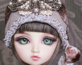 Twenties Style Taupe Cloche For Ball Jointed Dolls