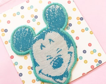 Mickey Mouse iron on patch vintage diy kitschy pastel goth disney mouse ears