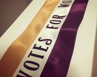 Votes for Women Suffragette sash