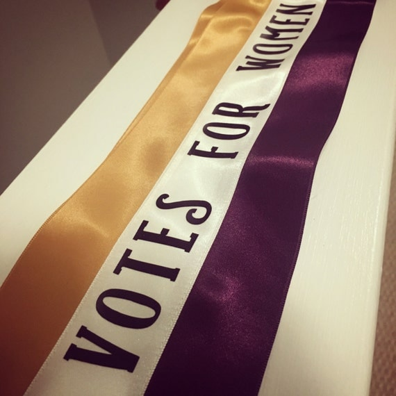 Vintage Scarves- New in the 1920s to 1960s Styles Votes for Women Suffragette sash $30.00 AT vintagedancer.com