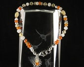 SALE! Confidence, Clarity & New Beginnings Bracelet with Carnelian, Citrine and Moonstone (2383)