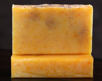 Pure Handcrafted Soap - Scented with Orange & Clove Essential Oils - All Natural Handmade Soap