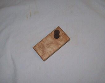 Birds Eye Maple Whimsy Box Tooth Fairy box Pill Box Guitar Pick Holder