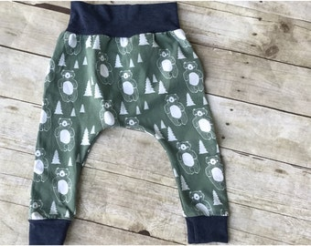 Slim Harem Pants Gender Neutral - Toddler Slim Harem Pants - Children's Pants -Organic Baby Clothing