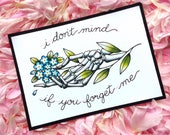 Morrissey Skeleton Hand Floral Tattoo Flash PRINT or ORIGINAL PAINTING by Michelle Kent