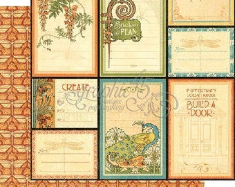 Graphic 45 Artisan Style Attention To Detail 12x12 double sided sheet