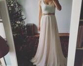 Darling-blush chiffon skirt-made to order