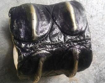 Crocodile Cuff - Chunky Cuff - Brass Cuff - Big Cuff - Chunky Jewelry