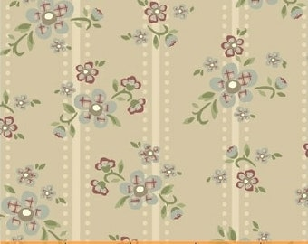 French Country Stripe on Dusty Beige  42176-2 - ELM COTTAGE  by L'Atelier Perdu for Windham Fabrics - By the Yard