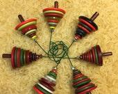 Shop Closing 50% OFF Red Green Button Christmas Tree Ornament - Proceeds Benefit Cancer Research