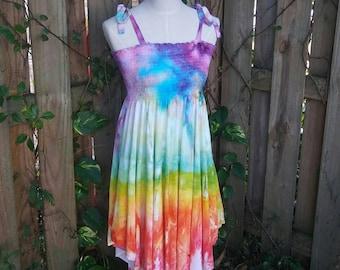 Ice Dyed Festival Skirt/Dress - Medium
