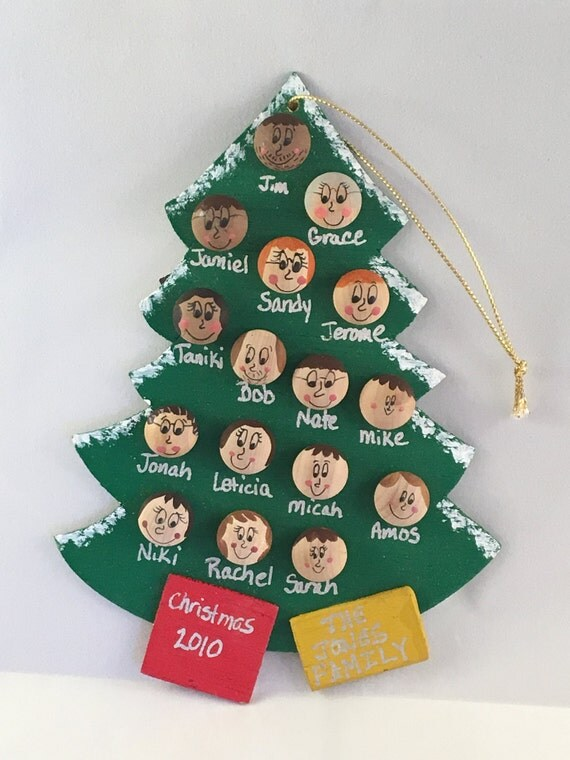 Personalized Christmas Ornament Up to 16 faces
