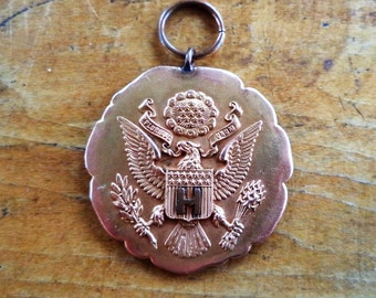 1920 Prize Corporal Co. H Gold Plated Military Award Medal