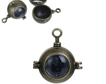 Steampunk pendant etsy locket pendant porthole pendant nautical pendant round locket harmony ball locket bronze locket bola pendant steampunk mozeypictures Gallery