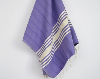 SALE 50 OFF/ BathStyle / No15 Lavender / Turkish Beach Bath Towel Peshtemal / Bath, Beach, Spa, Swim, Pool Towels