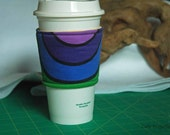 Polar Coordinates Rainbow - Coffee Sleeve #4