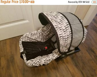 SALE Baby Boy Infant Car Seat Cover, Dapper Boy Car Seat Covers, Infant Car Seat Covers Boy, Ties and Houndstooth-Free strap covers