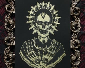 Jeweled Saint - Limited Edition Screen Print