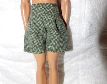 Green print swim trunks for male Fashion Dolls - kdc80