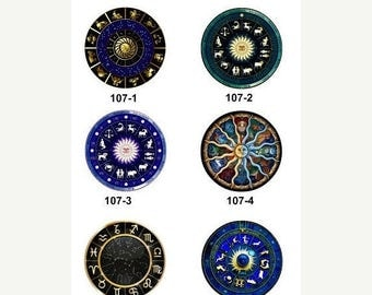 Moving 50off Sale - New Collection - 12mm/20mm/25mm Constellation Photo  Glass Cabochon CPC107