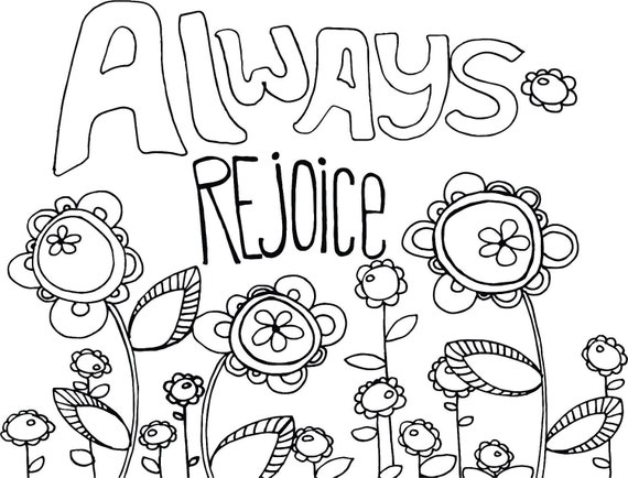 rejoice coloring pages - photo#12