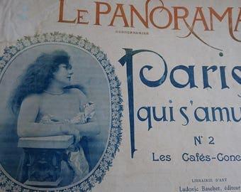 Divine antique French LE PANORAMA  PARIS c1900 Paris entertainers Actors Dancers