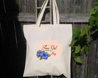 Flower Girl Tote Bag, Wedding Welcome Bag, Wedding Tote Bag, Choose Color