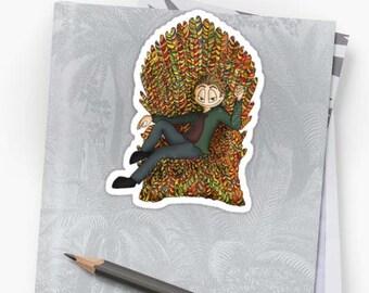 Vinyl Sticker - Trickster Gabriel on throne of candy