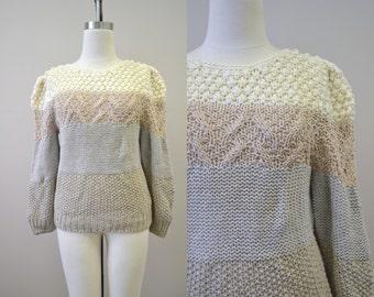 1980s Naomi Bee Handknit Sweater