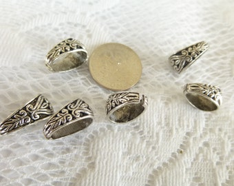 Pinch Bails Tibetan Silver or Antique Bronze Pinch Bails Filigree pinch bails Filigree findings Quantity mm x mm