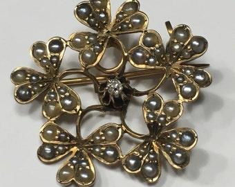 Antique Irish Jewelry Shamrock Something Old Bridal Necklace Lavaliere