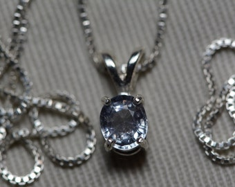 Sapphire Necklace, Blue Sapphire Pendant 0.72 Carat Appraised at 550.00, September Birthstone, Natural Sapphire Jewelry, Oval Cut