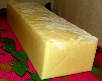 Earth and Sun Whole 3.5 Pounds Coconut Milk Soap Loaf - Cold Process Soap with Argan Oil and Shea Butter