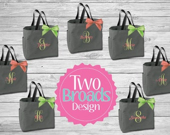 Bridesmaid Totes , Bridesmaid Gifts, Bridal Party Gift, Bridesmaid Tote Bag, Personalized Wedding Bag, Monogrammed Totes