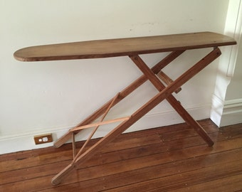VINTAGE wooden ironing board. My vintage home / vintage decor. Great side table.