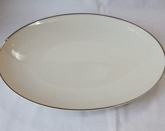 "Vintage 15"" Oval Platter, Noritake, Japan, Lorelei Pattern discontinued. C. 1970"