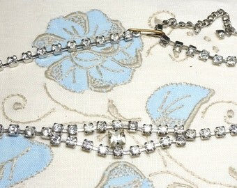 Vintage Rhinestone Necklace ,Multiple wedding necklaces and earrings available!