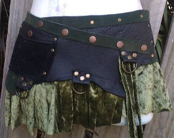 "20%OFF BURNING Man  bohemian leather belt ...30"" TO 38'' waist or hips...."