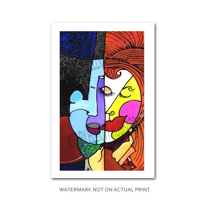Art Print Wedding Gift : Love Art Contemporary Art Print Wedding Gift by ArtByElliott