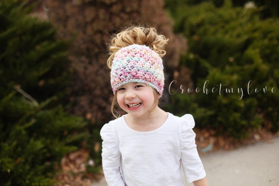Crochet Patterns Messy Bun Beanie : Messy bun beanie crochet pattern, crochet patterns, women beanie ...