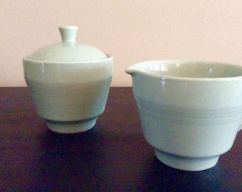 Berylware mint green sugar and creamer set